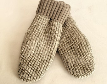 Sweater Mittens ~ Recycled Cotton and Cotton Blend Mittens ~ Recycled Cotton Sweater Mittens ~  Fleece Lined  ~ Women's  Mitten