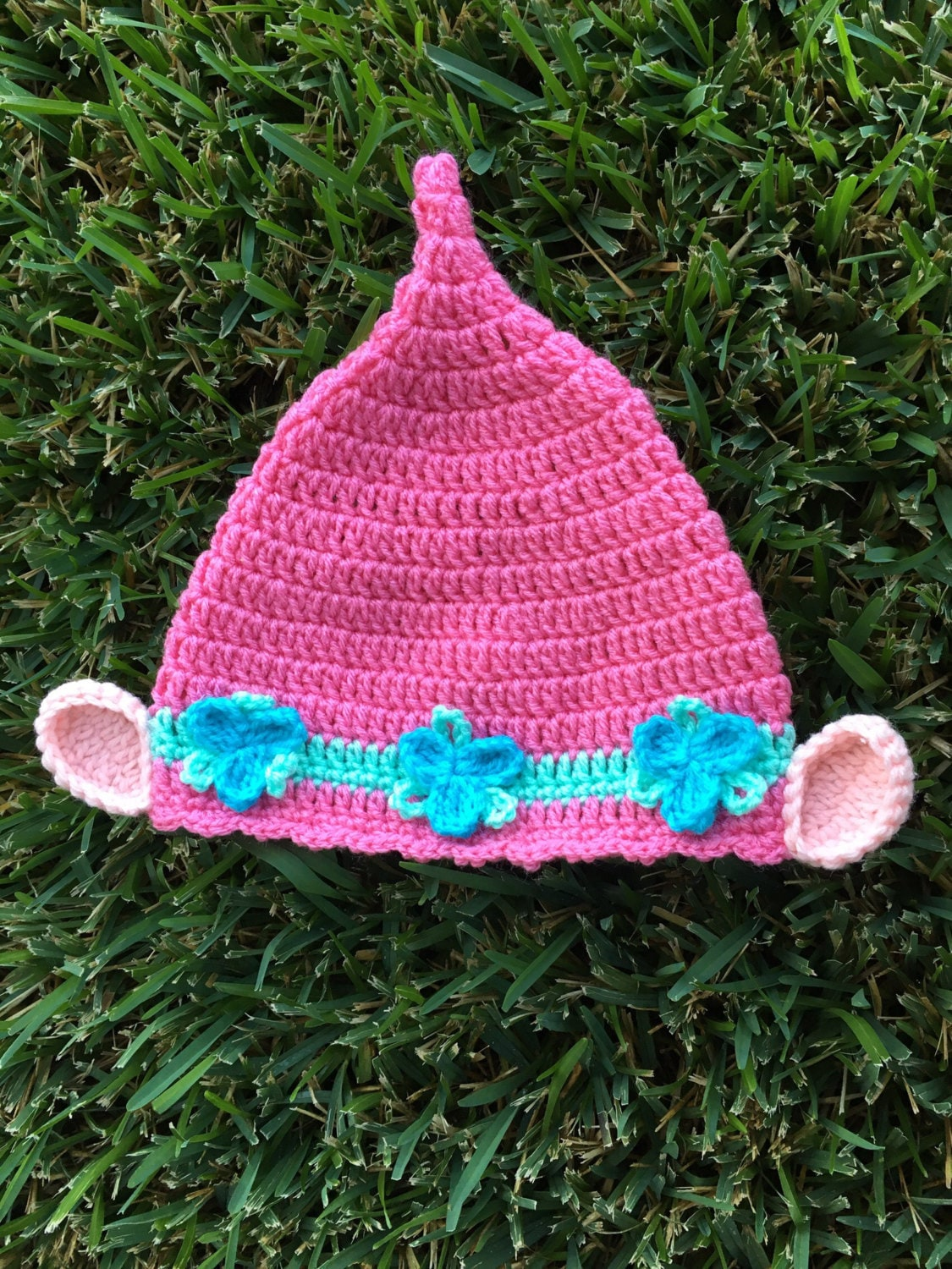 Crochet Pattern For Troll Hat : Poppy pink troll adorable hat