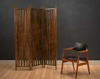 Mid Century Room Divider Screen