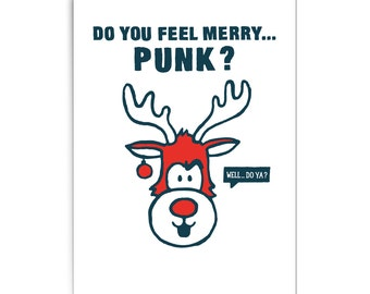 "Christmas card ""Do you feel merry... Punk?"""