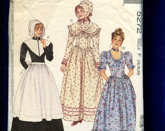 McCall's 5272 Frontier Woman Ruffled Tier Dresses Sizes 16..18..20 UNCUT