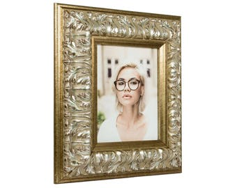 "Craig Frames, 20x27 Inch Antique Silver Baroque Picture Frame, Barroco, 3.6"" Wide (80812027)"