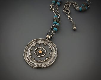 Reserved final payment: Seed Earth Mandala Necklace