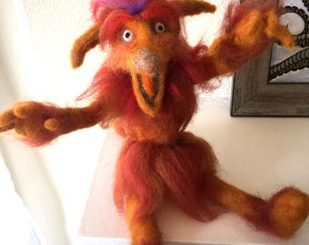 Needle felted Firey// MADE TO ORDER// Labyrinth Firey