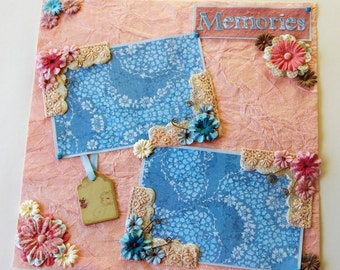 12x12 Premade Scrapbook Layout- Memories