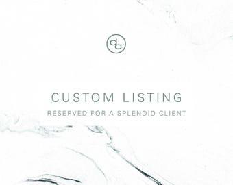 Custom Listing | Rachel Elizabeth