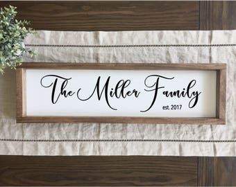 Family Name Sign | Family Established Sign | Family Established Wood Sign | Last Name Sign | Rustic Home Decor | Farmhouse Decor