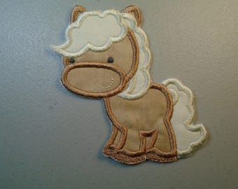 Iron on or sew on applique or patch of  a Pony