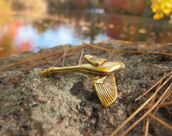 Gold Canadian Goose Lapel Pin- Geese Pins- Canadian Geese