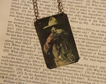 Annie Oakley jewelry Cowgirl jewelry Western necklace mixed media jewelry