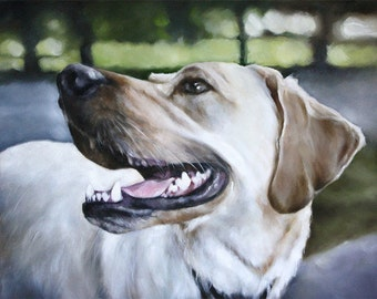 Custom Pet Portrait, Dog Portrait, Animal Art, Custom Paintings, Oil Painting, 11x14