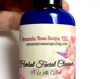 Herbal Facial Cleanser, Aloe Face Wash, Herbal Face Wash, Face Wash, Normal to Oily Face Care
