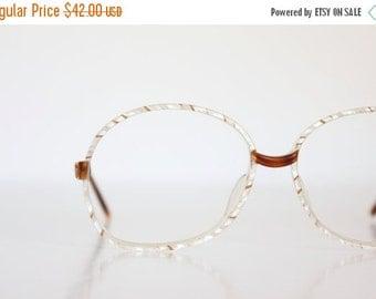 ON SALE Vintage 80's Oversized Italian Butterscotch Eyeglasses Frames