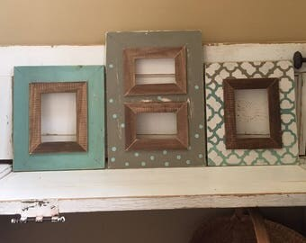 Handmade Grouping of 3 Picture Frames