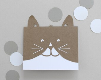 Papercut Cat Card