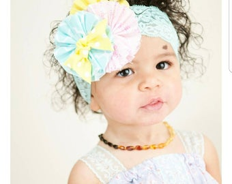 Flower lace headband