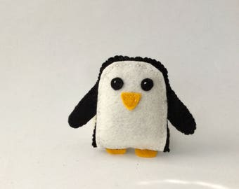 Gunter the Evil Penguin! Adventure Time inspired handmade felt toy / figure / gift