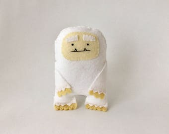 Yeti - Monster of the Snow -  Cute handmade felt toy