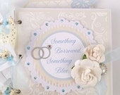 Album SALE Wedding Scrapbook Mini Album Kit or Pre Made Pre-cut with instructions Wedding Gift