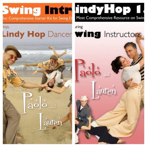 Single DVD Swing Intro Instructional DVD or Lindy Hop 1&2 instructional DVD with Lauren and Paolo