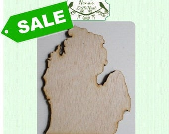 OVERSTOCK SALE -  Michigan State Cut Outs - 15 Inches Tall - Laser Cut Wood