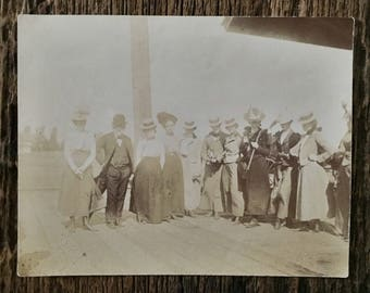 Original Vintage Photograph Waiting in Walla Walla 1900