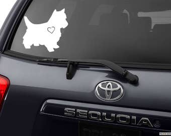 Westie Decal, Scottie Dog Decal, Scottish Terrier, Westhighland White Terrier Silhouette, dog breed car window auto decal bumper sticker