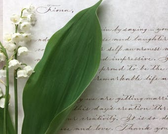 Handwritten Love Letter to the Bride, Groom, Proposal, Anniversary Gift