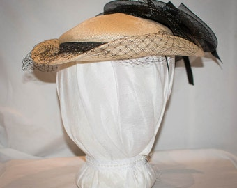 Gorgeous Vintage black and white hat: Sonni of San Francisco