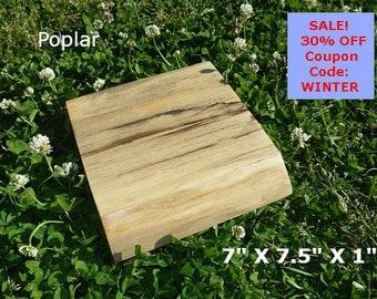 Live Edge Poplar Wood Slab Finished DIY Floating Shelf, Natural Edge Shelving, Photo Ledge, Corner Shelf, Cool Kitchen Shelving 0105