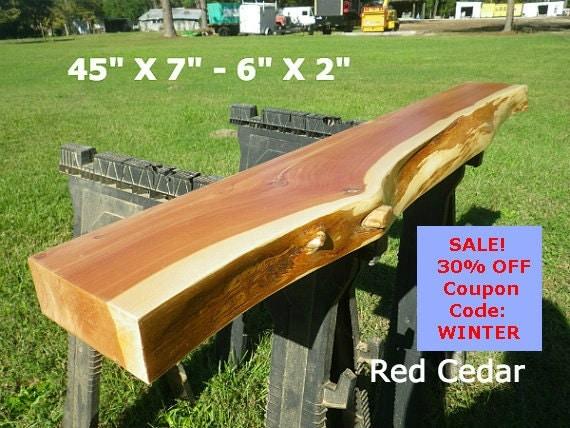 Live edge cedar finished wood slab shelving diy floating for Finished wood slabs