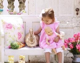 Magnolia Spring dress plus doll dress in sizes 0-3 months through girls size 10