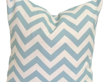 Blue chevron pillow Etsy