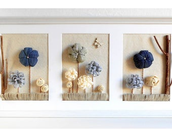 Baby room decoration fabric flower 3d Home decor