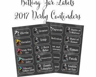 Kentucky Derby Party Printable Preakness Party Belmont Stakes Party Horse Racing Printable Betting Sheets 5 Digital Files Instant Download
