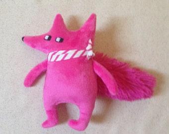 Fuzzy small stuffed fox fabric doll stuffed animal