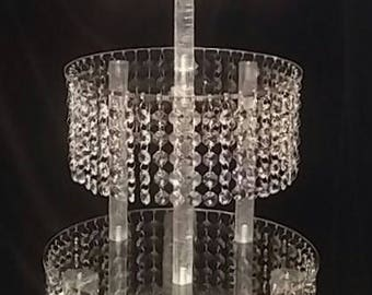 Crystal  Cake Stand Tower 3 Tier
