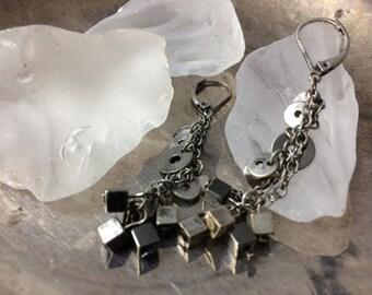 Oxidized Earrings Dangle Earrings Boho Earrings Black Silver Earrings Bohemian Earrings Boho Earrings Antique Earrings Vintage Earrings