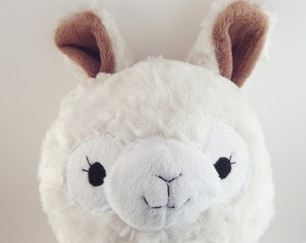 Alpaca Llama Plush Toy cream white stuffed animal