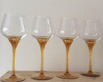 Retro wine glasses