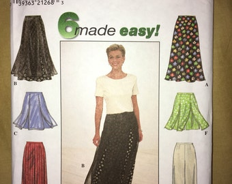 VINTAGE UNCUT Simplicity Pattern #8014 Misses' Skirt & Pants or Shorts Size P 12,14,16 New from 1997