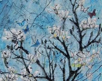 Original painting: The Magnolia Tree - Oil on Canvas
