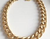 Ultra bold: Chunky Matte Gold Necklace, Chunky jewelry