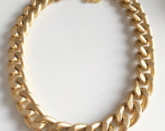 Ultra bold: Chunky Matte Gold Necklace, Chunky jewelry