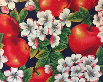 Cotton Cider Hill Apples Flower Cotton Fabric Print 12 yards Roll 1005/72017 N