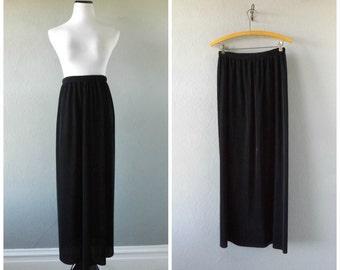minimal pleat skirt | vintage 90s long pleated maxi skirt size m/medium gothic grunge dresses 1990s minimalist blouse tops hippie boho skirt