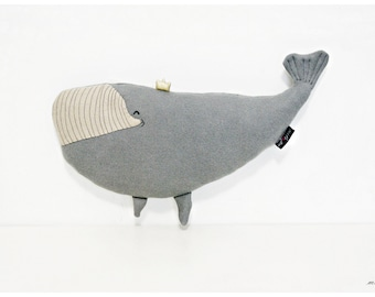DIANA - WHALE PRINCESS whale plush stuffed whale stuffed animal whale pillow whale cushion Kids Gift Ideas Baby Toys 17''/10'' (43cm/25cm)