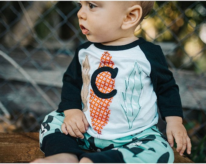 Swanky Shank  Personalized Baseball tee with Three feathers