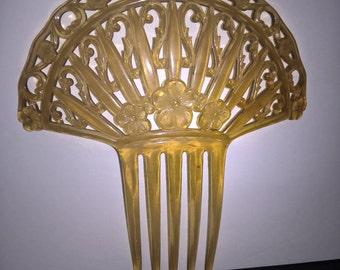Large Art Nouveau Hair Comb