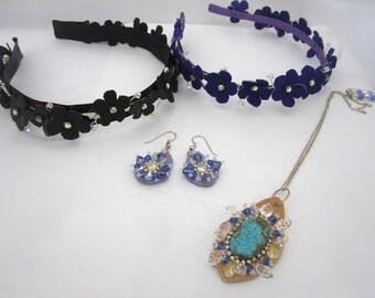 Grab bag, grab bag, jewelry lot, crystal gemstone, birthday idea, summer spring gift idea hair party favor, destash sale, rhinestone sparkle
